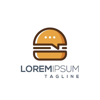 Burger food review logo