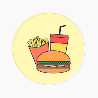 Burger et frites logo