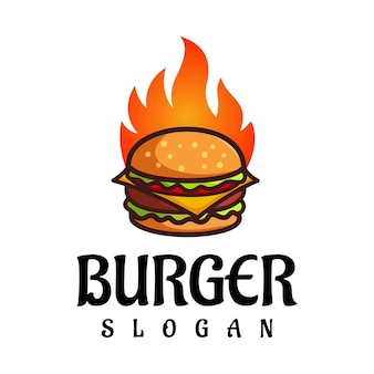 Burger logo design vector fast food restaurant et café symbole