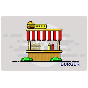 Burger, panier d'achat