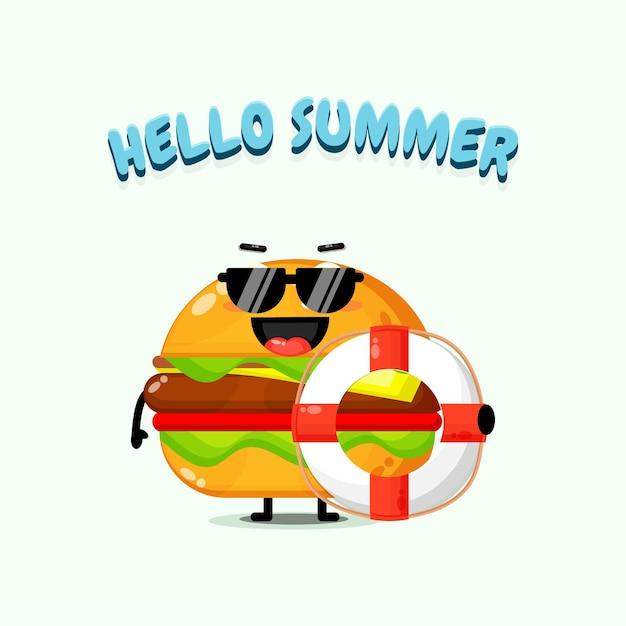 Burger portant un char avec des salutations d'été