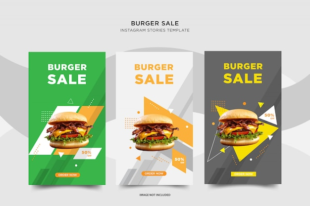 Burger sale instagram conception de post sociale