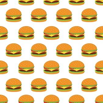 Burger seamless pattern design vectoriel