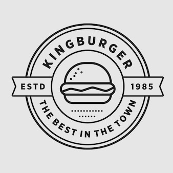 Burger vintage shop vector élément design illustration de logo