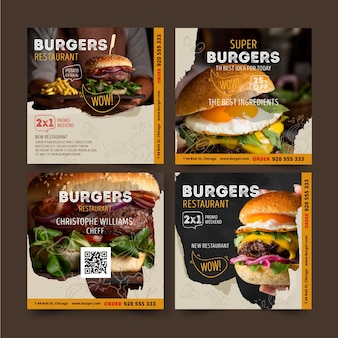 Burgers restaurant instagram posts