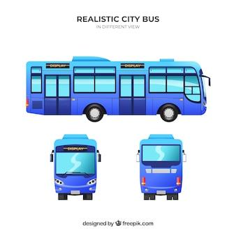 Bus réglé avec différentes perspectives