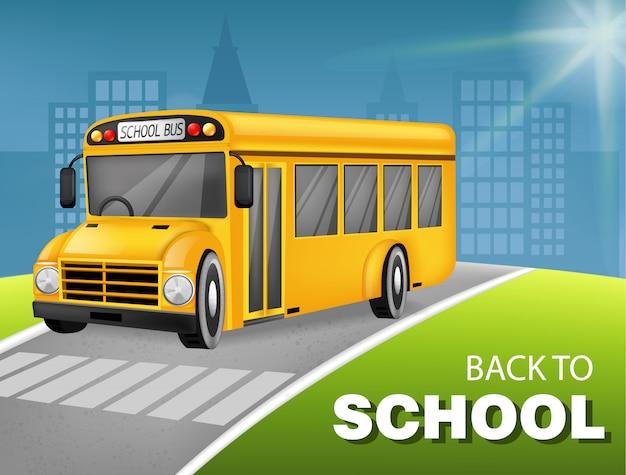 Bus scolaire 3d détaillé