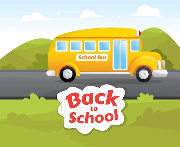 Bus scolaire classique jaune