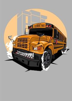 Bus scolaire monstre