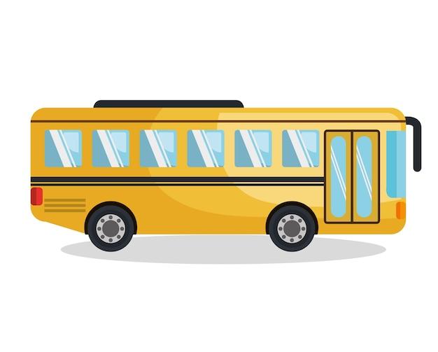 Bus véhicule silhouette icône vector illustration design