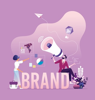 Business branding et concept marketing
