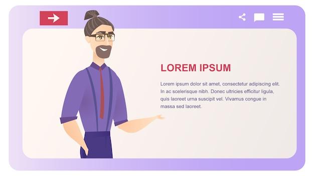 Business character mentoe vector bannière de site web