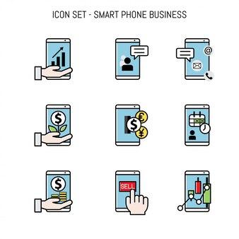 Business collection d'icônes mis à plat