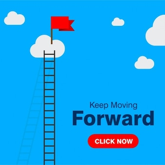 Business concept keep moving forward