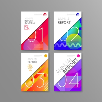 Business couvre la brochure du rapport annuel