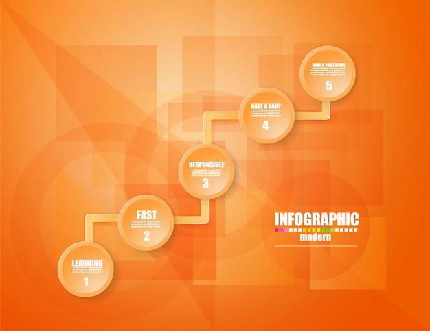 Business infographic template le concept les marches d'escalier. intensifier.