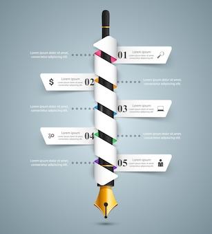 Business infographique.
