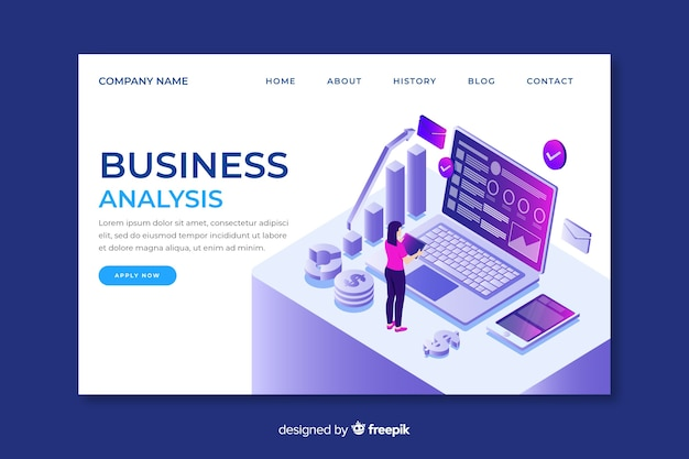 Business landing page d'analyse professionnelle