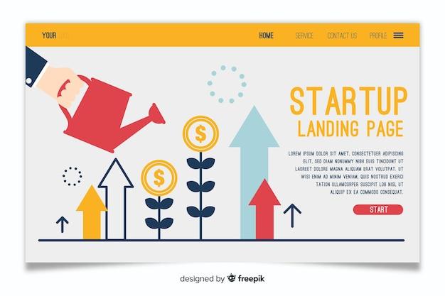 Business landing page pour le démarrage