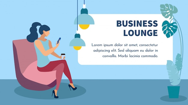 Business lounge zone bannière