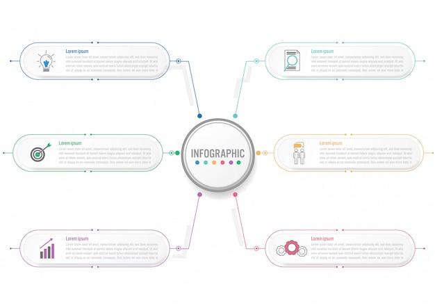 Business modèle infographique avec étiquette de cercle