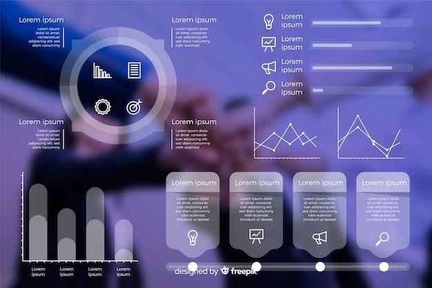 Business modèle infographique avec photo