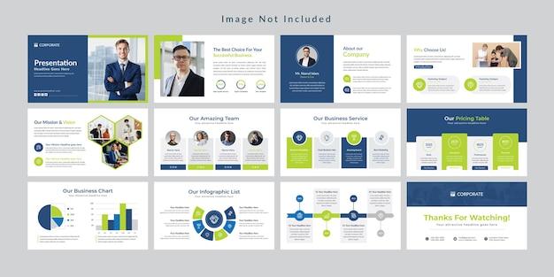 Business modèle de présentation de diapositives minimal.