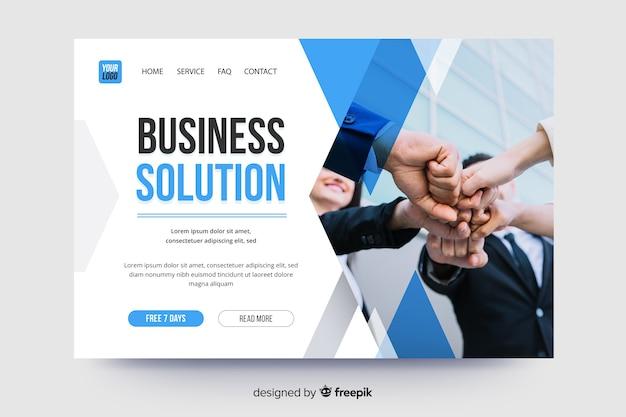 Business page de destination avec photo