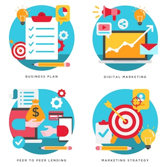 Business plan, marketing digital, design de stratégie marketing