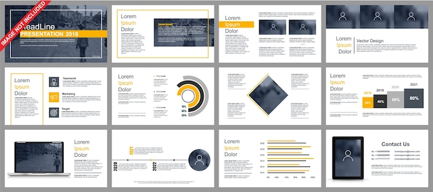 Business powerpoint présentation diapositives modèles à partir d'éléments infographiques.