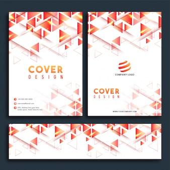 Business report cover design, brochure et ensemble d'en-tête web.