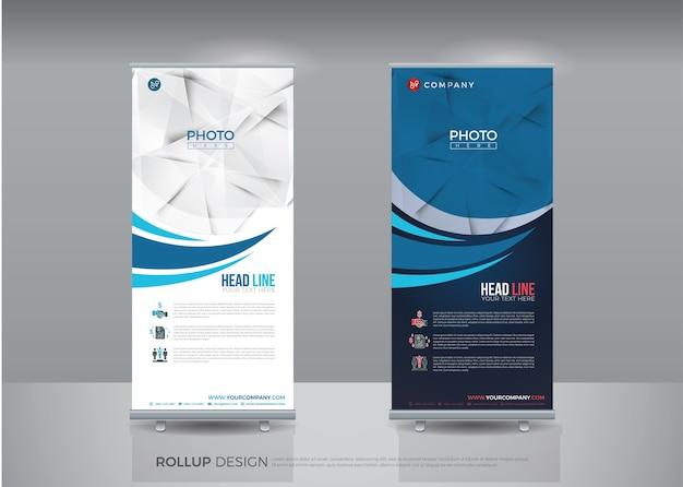 Business roll up pour la mise en page de concept de technologie pour le modèle de bannière d'entreprise