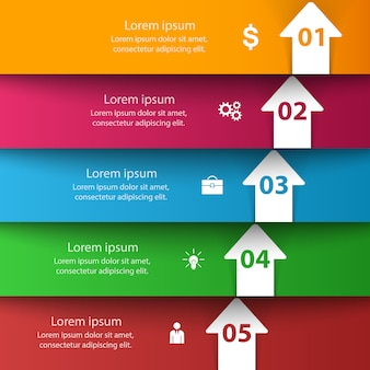 Business style infographie origami modèle illustration vectorielle