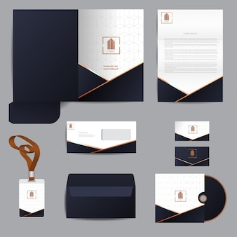 Business template set design vectoriel