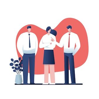 Businessmen consulting .cartoon pour les entreprises