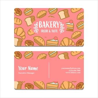 Bussines carte invitation boulangerie thème rose couleur