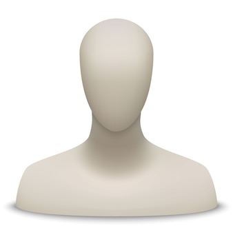 Buste et tête de mannequin
