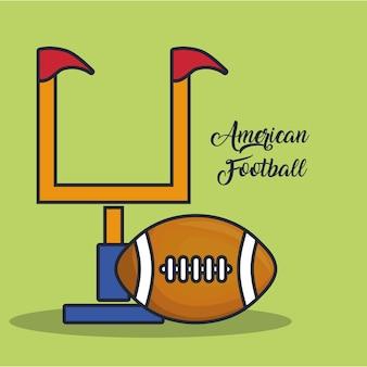 But de football américain et balle