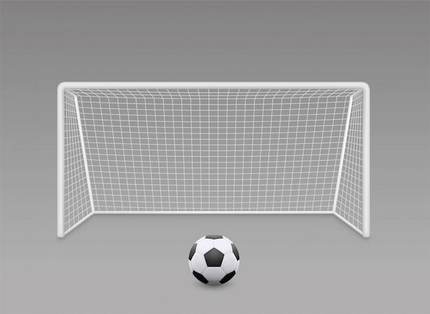 But de football de football réaliste avec grille