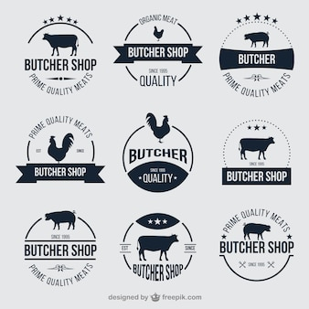 Butcher shop badges