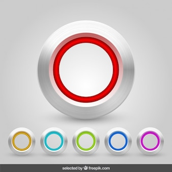 Buttons collection d'aluminium