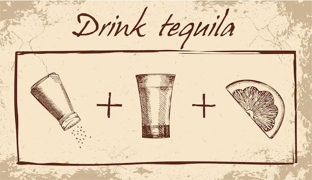 Buvez la bannière de tequila