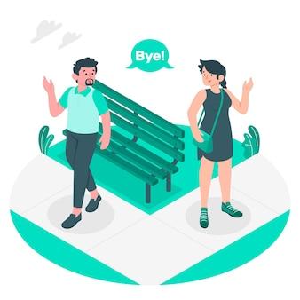 Bye concept illustration