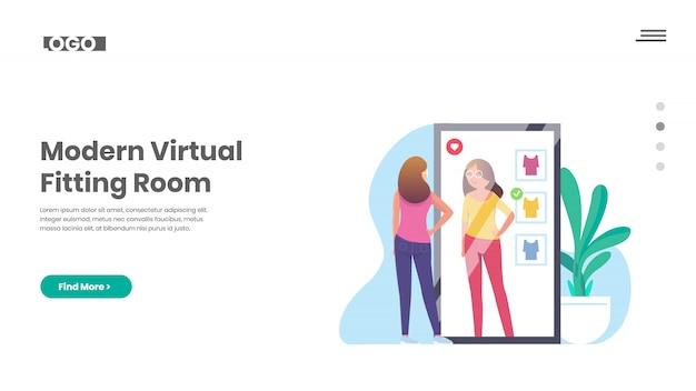 Cabine d'essayage virtuelle, miroir intelligent