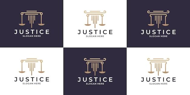 Cabinet d'avocats, justice, collections de conception de logos d'avocats