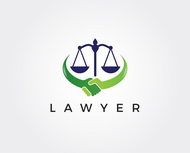 Cabinet d'avocats ligne tendance logo icône vector design