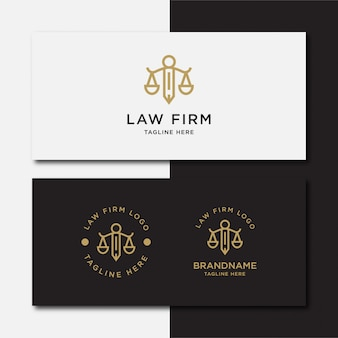 Cabinet d'avocats, services d'avocats, logo vintage de luxe