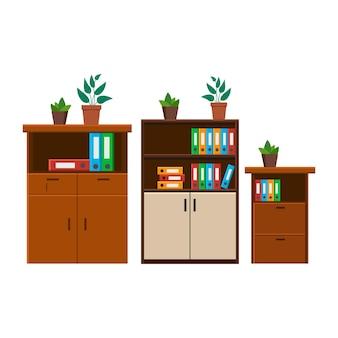 Cabinet, icône de classeur. fond isolé de vecteur.