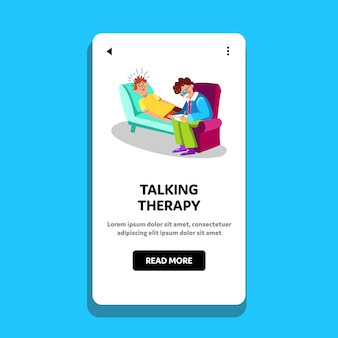 Cabinet de psychiatrie de séance de thérapie parlante