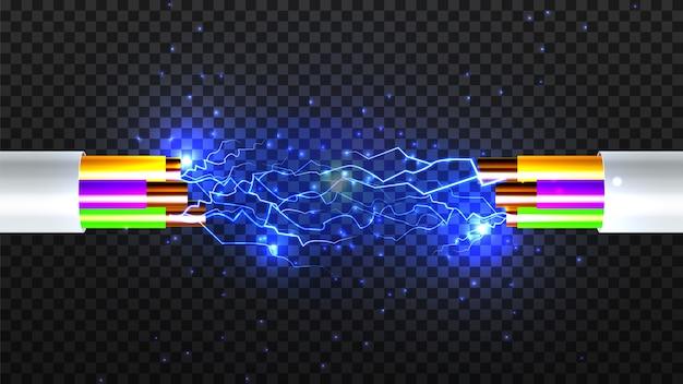 Câble électrique breoken